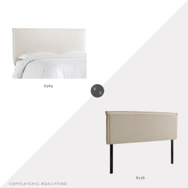 Daily Find: One Kings Lane Frank Headboard vs. Overstock Camille Queen Upholstered Headboard, upholstered headboard look for less, copycatchic luxe living for less, budget home decor and design, daily finds, home trends, sales, budget travel and room redos
