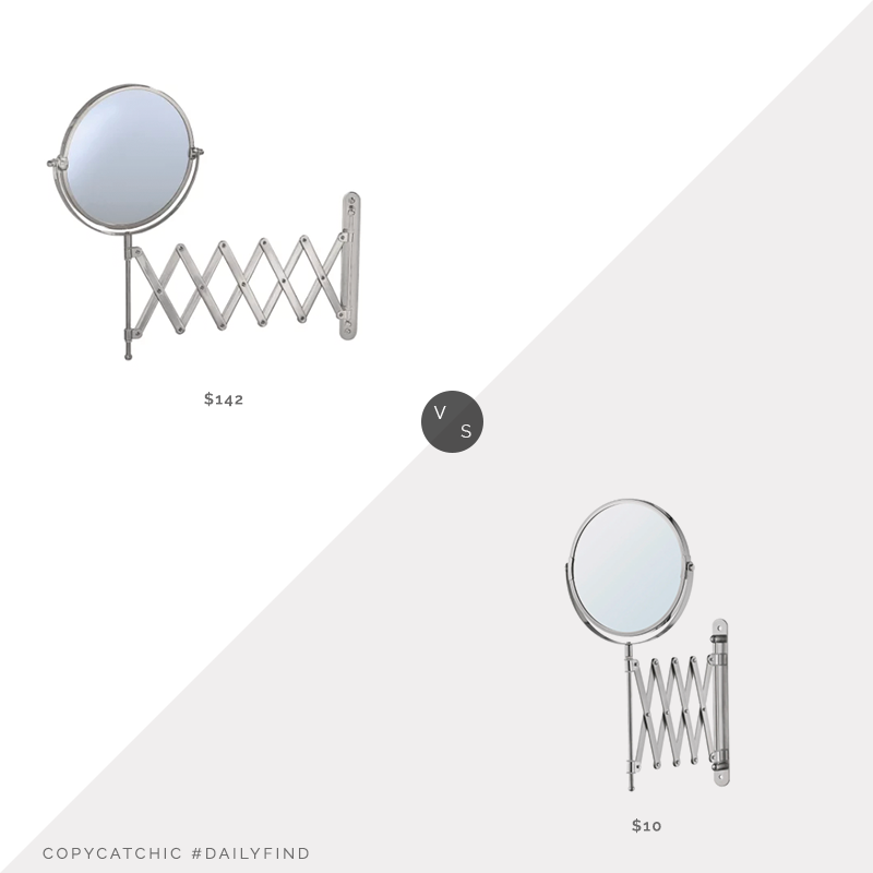 Daily Find: Build.com Gatco Scissor Wall Mirror vs. IKEA Fräck Mirror, accordion mirror look for less, copycatchic luxe living for less, budget home decor and design, daily finds, home trends, sales, budget travel and room redos