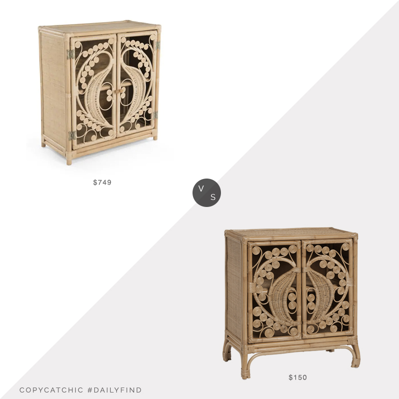 Daily Find: Hayneedle Kouboo Rattan Storage Cabinet vs. World Market Open Weave Rattan Storage Cabinet, rattan cabinet look for less, copycatchic luxe living for less, budget home decor and design, daily finds, home trends, sales, budget travel and room redos