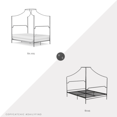 Daily Find: Jack and Jill Boutique Corsican Iron Canopy Bed vs. Wayfair Novogratz Camilla Metal Canopy Bed, iron canopy bed look for less, copycatchic luxe living for less, budget home decor and design, daily finds, home trends, sales, budget travel and room redos