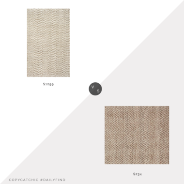 Daily Find: Pottery Barn Chevron Hand-Loomed Wool/Jute Rug vs. Rugs USA Handwoven Jute Jagged Chevron Area Rug, zig zag jute rug look for less, copycatchic luxe living for less, budget home decor and design, daily finds, home trends, sales, budget travel and room redos