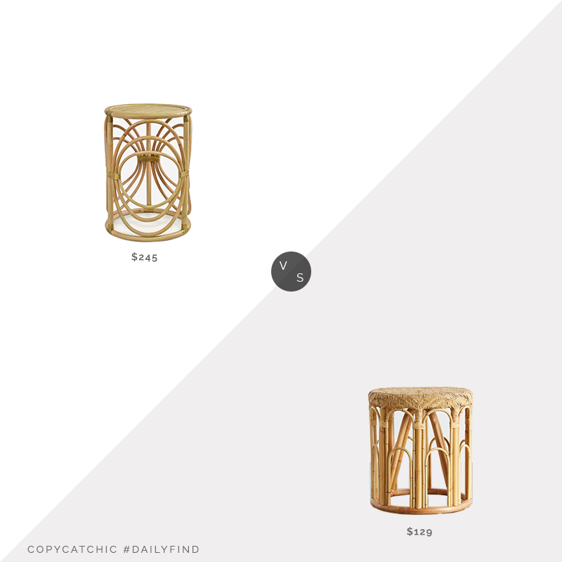 Daily Find: Lulu & Georgia Corrine Side Table vs.Urban Outfitters Lulu Rattan Side Table, rattan side table look for less, copycatchic luxe living for less, budget home decor and design, daily finds, home trends, sales, budget travel and room redos