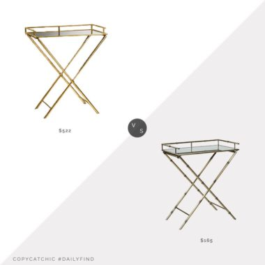 Daily Find: Cyan Design Gold Bamboo Tray Table vs. Wayfair Georgii Bar Tray, gold side table look for less, copycatchic luxe living for less, budget home decor and design, daily finds, home trends, sales, budget travel and room redos