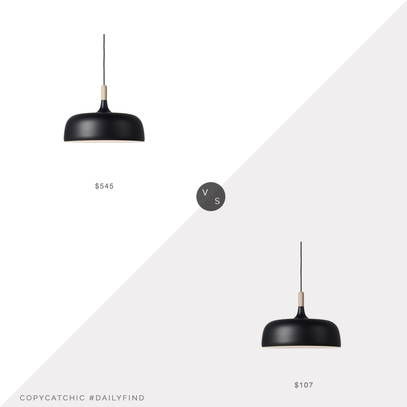 Daily Find: Nordic Nest Northern Acorn Pendant Light vs. Home Depot Bazz Black Wood Pendant, black pendant light look for less, copycatchic luxe living for less, budget home decor and design, daily finds, home trends, sales, budget travel and room redos