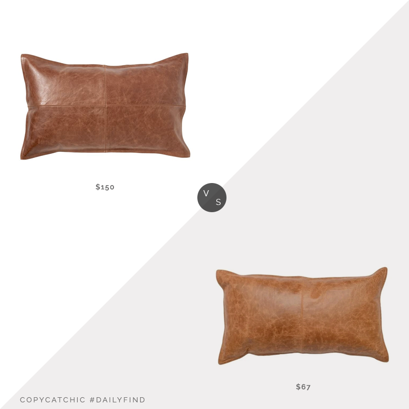 Daily Find | Pottery Barn Pieced Leather Lumbar Pillow Cover