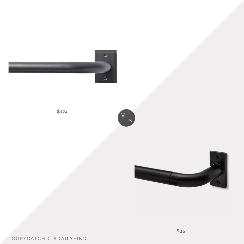 Daily Find: Pottery Barn Room Darkening Curtain Rod and Wall Bracket vs. Target Project 62 French Curtain Rod, return curtain rod look for less, copycatchic luxe living for less, budget home decor and design, daily finds, home trends, sales, budget travel and room redos