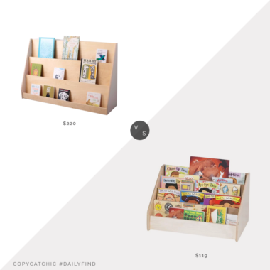 Daily Find: Sprout Book Display Shelf vs. Wayfair Children's Factory Toddler Low Book Display, kids bookshelf look for less, copycatchic luxe living for less, budget home decor and design, daily finds, home trends, sales, budget travel and room redos