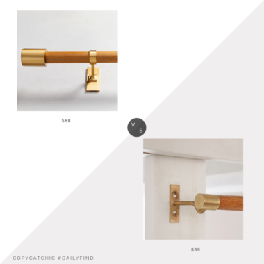 Dailly Find: West Elm Mid-Century Wooden Rod vs. Urban Outfitters Mid-Century Modern Wood Curtain Rod, mid century curtain rod look for less, copycatchic luxe living for less, budget home decor and design, daily finds, home trends, sales, budget travel and room redos