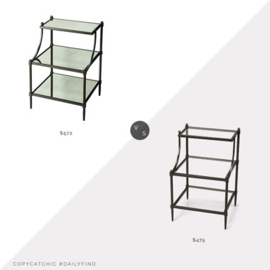 Daily Find: Houzz Metalworks Tiered Side Table vs. One Kings Lane Liv Tiered Side Table, tiered side table look for less, copycatchic luxe living for less, budget home decor and design, daily finds, home trends, sales, budget travel and room redos