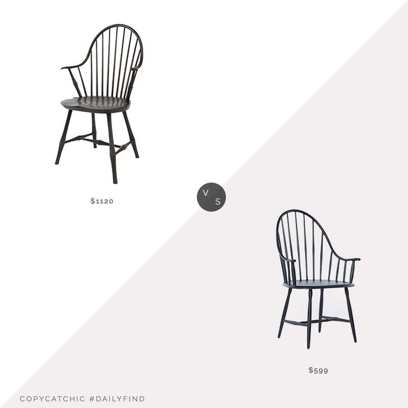 Daily Find: O&G Studio Wayland Elbow Chair vs. Rejuvenation Henry Chair, windsor chair look for less, copycatchic luxe living for less, budget home decor and design, daily finds, home trends, sales, budget travel and room redos