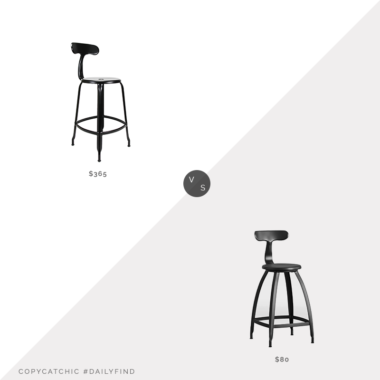 Daily Find: Brook Farm General Store Nicolle Counter Stool vs. Target Seidler Architect Industrial Counter Stool, t back stool look for less, copycatchic luxe living for less, budget home decor and design, daily finds, home trends, sales, budget travel and room redos
