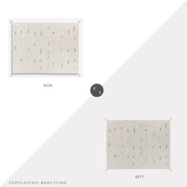 Daily Find: Lulu and Georgia Cliona Rug vs. All Modern Danise Southwestern Flatweave Rug, lulu and georgia flatweave rug look for less, copycatchic luxe living for less, budget home decor and design, daily finds, home trends, sales, budget travel and room redos