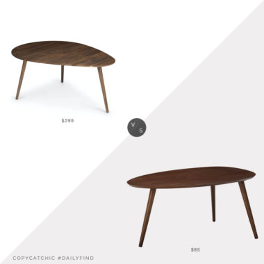 Daily Find: Article Amoeba Table vs. Amazon Elam Wood Coffee Table, midcentury coffee table look for less, copycatchic luxe living for less, budget home decor and design, daily finds, home trends, sales, budget travel and room redos