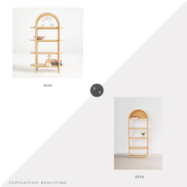 Daily Find: Crate & Kids Dolly Natural Tall Bookcase vs. Urban Outfitters Ria Bookshelf, arched bookcase look for less, copycatchic luxe living for less, budget home decor and design, daily finds, home trends, sales, budget travel and room redos