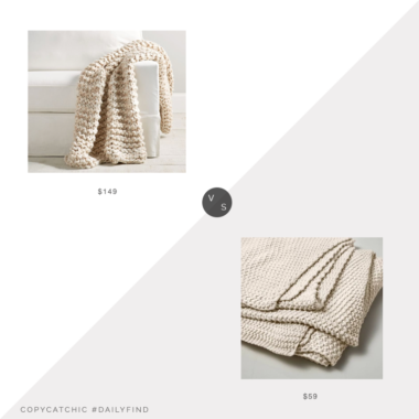 Daily Find: Pottery Barn Chunky Handknit Throw vs. Target Casaluna Chunky Knit Bed Blanket, chunky knit throw look for less, copycatchic luxe living for less, budget home decor and design, daily finds, home trends, sales, budget travel and room redos