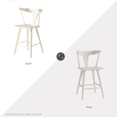 Daily Find: Anthropologie Mackinder Counter Stool vs. Pottery Barn Westan Counter Stool, white counter stool look for less, copycatchic luxe living for less, budget home decor and design, daily finds, home trends, sales, budget travel and room redos
