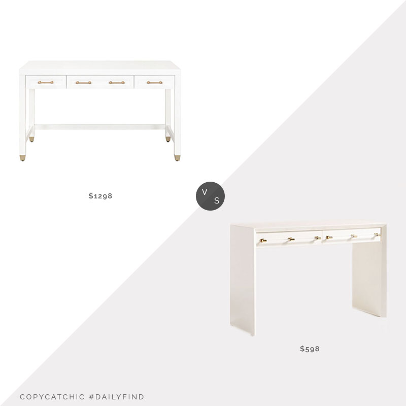 Daily Find: Pure Salt Interiors Sydney Desk vs. Anthropologie Merriton Desk, white desk look for less, copycatchic luxe living for less, budget home decor and design, daily finds, home trends, sales, budget travel and room redos