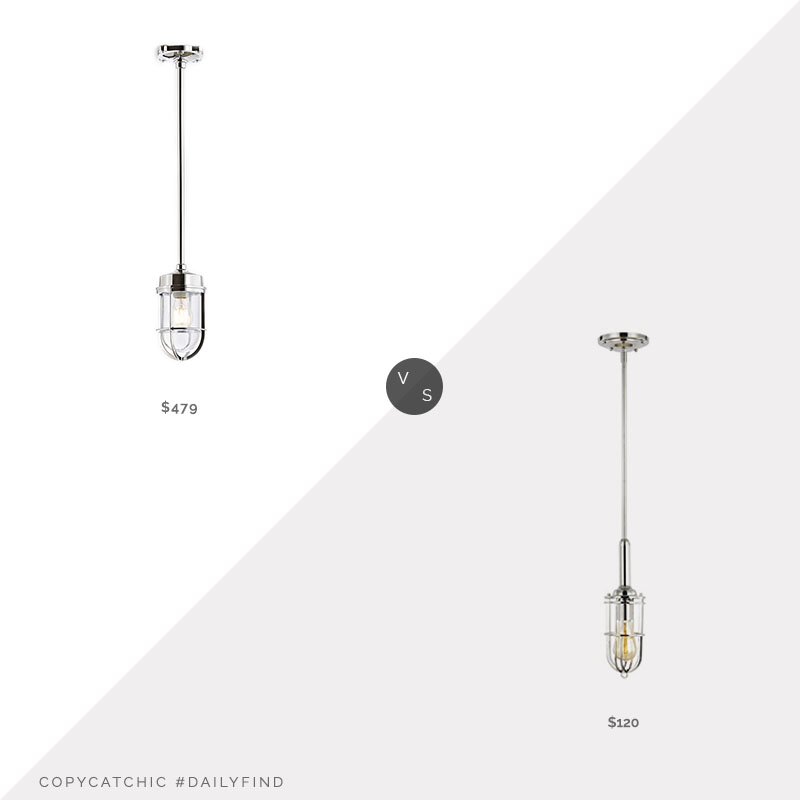 Daily Find: Rejuvenation Tolson Cage Pendant vs. Wayfair Williston Forge Abordale Pendant, cage pendant light look for less, copycatchic luxe living for less, budget home decor and design, daily finds, home trends, sales, budget travel and room redos