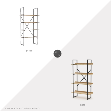 Daily Find: West Elm Modern Mixed Material Bookshelf vs. Amazon RST Brands Emery 4 Tier Bookshelf, wood metal bookshelf look for less, copycatchic luxe living for less, budget home decor and design, daily finds, home trends, sales, budget travel and room redos