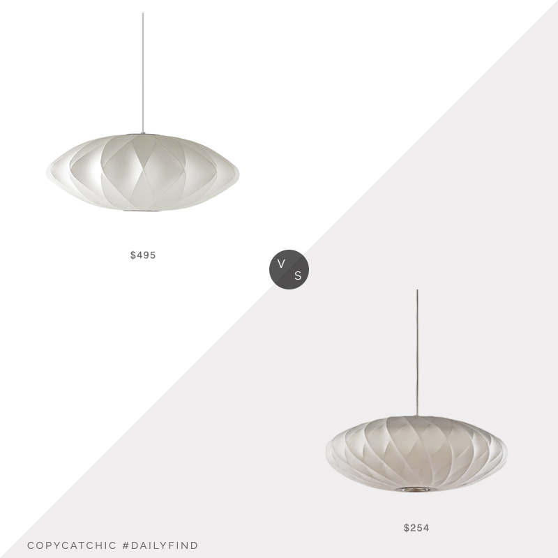Daily Find: Lightology Saucer Criss Cross Pendant vs. Overstock 3 in 1 Light Oval Pendant, white lantern pendant light look for less, copycatchic luxe living for less, budget home decor and design, daily finds, home trends, sales, budget travel and room redos