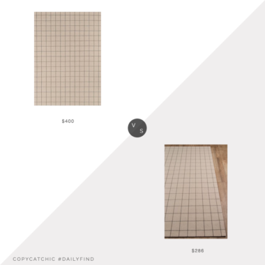 Daily Find: One Kings Lane Erin Gates Deerfield Rug vs. Joss & Main Marlborough Handmade Flatweave Wool Ivory Rug, windowpane rug look for less, copycatchic luxe living for less, budget home decor and design, daily finds, home trends, sales, budget travel and room redos