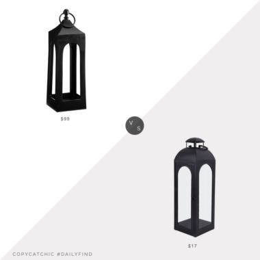 Daily Find: Pottery Barn Caleb Handcrafted Metal Lantern vs. Walmart Better Homes & Gardens Metal Candle Holder Lantern, black lantern look for less, copycatchic luxe living for less, budget home decor and design, daily finds, home trends, sales, budget travel and room redos