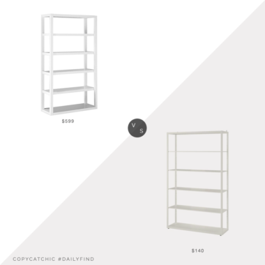 Daily Find: West Elm Parsons Tower vs. IKEA FJÄLKINGE, parsons bookcase look for less, copycatchic luxe living for less, budget home decor and design, daily finds, home trends, sales, budget travel and room redos