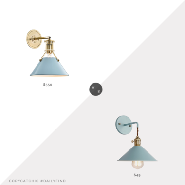 Daily Find: Lulu & Georgia Cameron Sconce vs. Amazon iYoee Wall Sconce, blue sconce look for less, copycatchic luxe living for less, budget home decor and design, daily finds, home trends, sales, budget travel and room redos