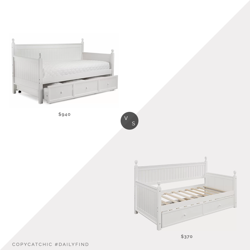 Daily Find: Wayfair Bernessa Twin Daybed with Trundle vs. Wayfair Bulera Twin Daybed with Trundle, twin bed with trundle look for less, copycatchic luxe living for less, budget home decor and design, daily finds, home trends, sales, budget travel and room redos
