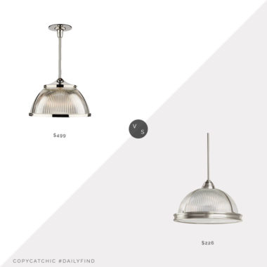 Daily Find: Rejuvenation Laurelhurst Prismatic Dome Pendant vs. Joss & Main Granville Dome Pendant, rejuvenation pendant look for less, copycatchic luxe living for less, budget home decor and design, daily finds, home trends, sales, budget travel and room redos