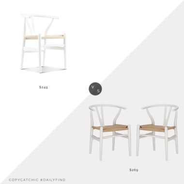 Daily Find: Rove Concepts Wishbone Chair vs. Amazon Mid-Century Dining Chair Set of 2, white wishbone chair look for less, copycatchic luxe living for less, budget home decor and design, daily finds, home trends, sales, budget travel and room redos