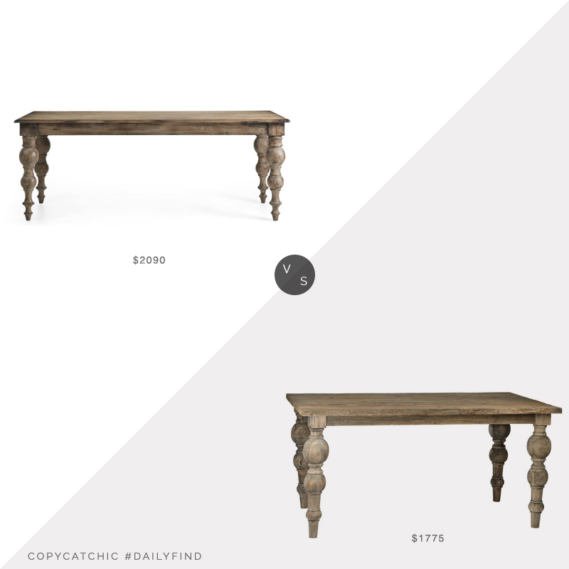 Daily Find: Arhaus Francis Dining Table vs. Meadow Blu Dovetail Campbell Dining Table, farmhouse dining table look for less, copycatchic luxe living for less, budget home decor and design, daily finds, home trends, sales, budget travel and room redos
