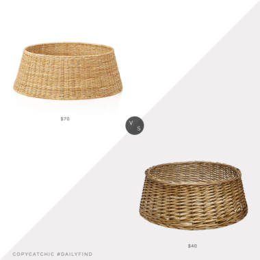 Daily Find: Crate and Barral Abaca Tree Collar vs. Target Wondershop™ Split Willow Christmas Tree Collar, wicker tree collar look for less, copycatchic luxe living for less, budget home decor and design, daily finds, home trends, sales, budget travel and room redos