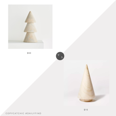 Daily Find: Crate and Barrel Natural Wood Tree vs. Target Threshold Designed with Studio McGee Decorative Cylinder Tree Beige, wood christmas tree look for less, copycatchic luxe living for less, budget home decor and design, daily finds, home trends, sales, budget travel and room redos