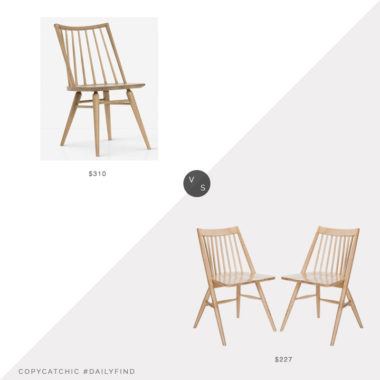 Daily Find: Lulu and Georgia Lanae Dining Chair vs. Home Depot Wren Natural Dining Chair (set of 2), light wood dining chair look for less, copycatchic luxe living for less, budget home decor and design, daily finds, home trends, sales, budget travel and room redos