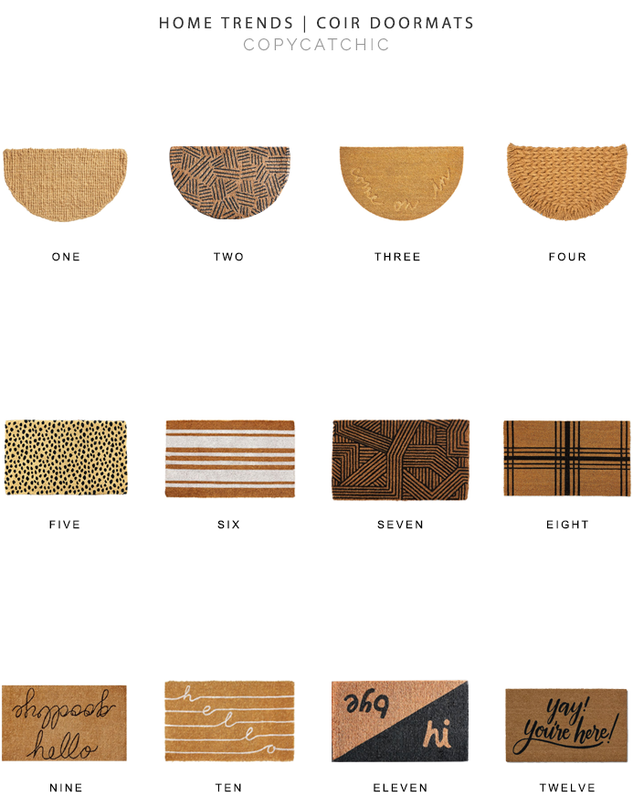 coir doormat look for less, copycatchic luxe living for less, budget home decor and design, daily finds, home trends, sales, budget travel and room redos