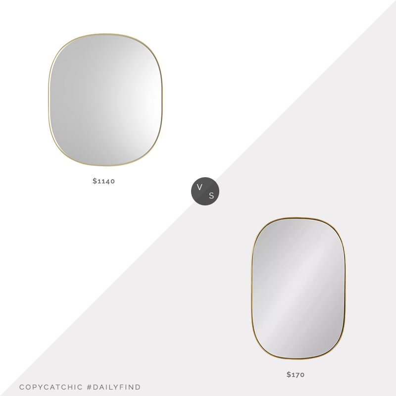 Daily Find: Artemest Prof Josephine Oval Mirror vs. Target Kate and Laurel Caskill Capsule Mirror, brass capsule mirror look for less, copycatchic luxe living for less, budget home decor and design, daily finds, home trends, sales, budget travel and room redos