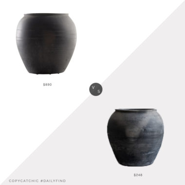 Daily Find: 1st Dibs South Asian Vintage Terracotta Jar vs. McGee And Co Brushed Charcoal Vase, black vase look for less, copycatchic luxe living for less, budget home decor and design, daily finds, home trends, sales, budget travel and room redos