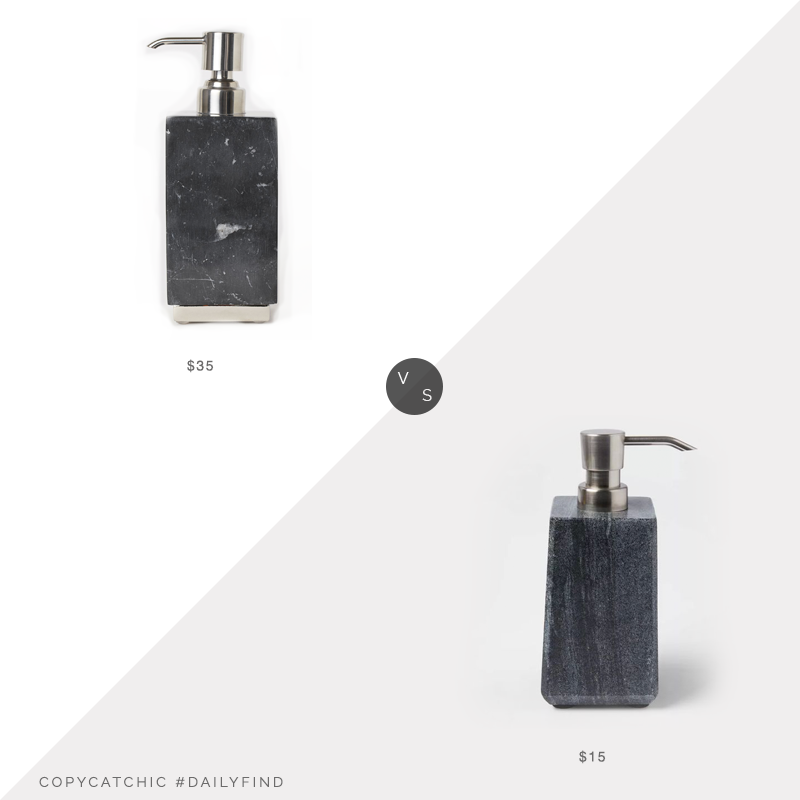 Daily Find: H&M Home Marble Soap Dispenser vs. Target Project 62™ Solid Marble Soap Pump, black marble soap pump look for less, copycatchic luxe living for less, budget home decor and design, daily finds, home trends, sales, budget travel and room redos