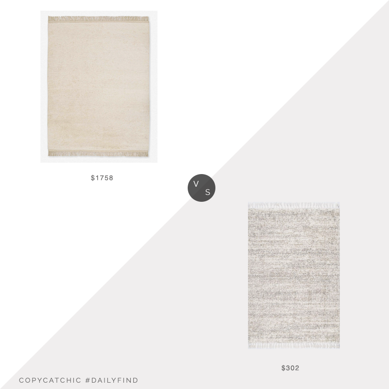 Daily Find: Lulu and Georgia Amir Moroccan Shag Rug vs. Rugs USA Kalin Shaded Shag with Tassel, shag rug look for less, copycatchic luxe living for less, budget home decor and design, daily finds, home trends, sales, budget travel and room redos
