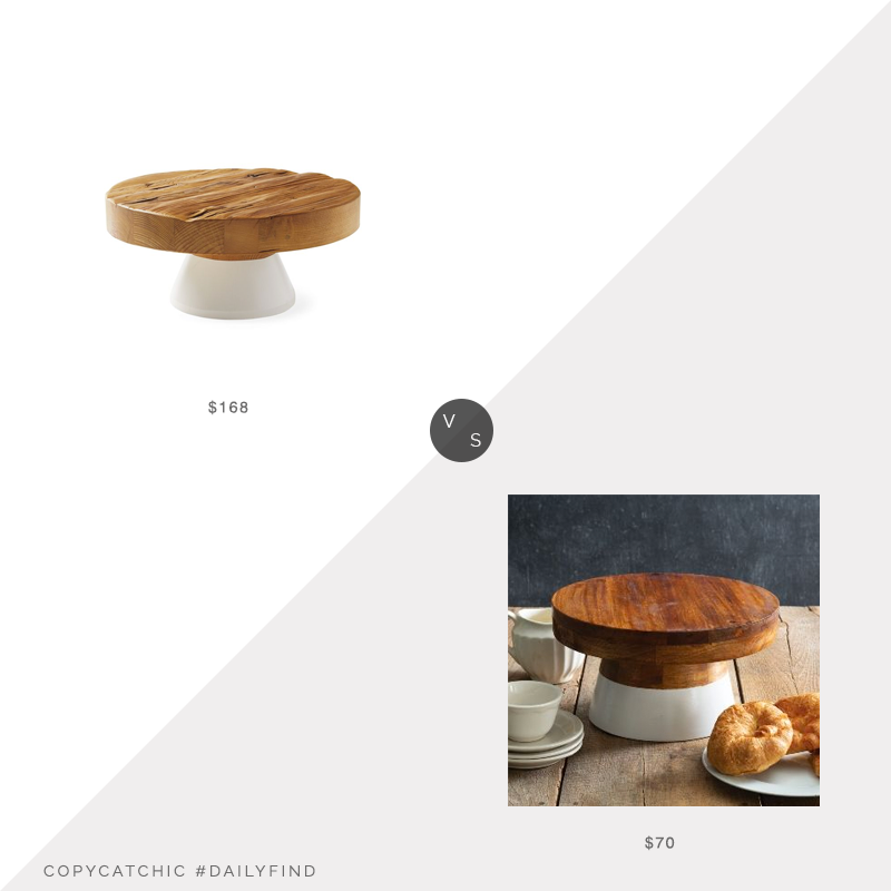 Daily Find: Serena and Lily Dip-Dyed Cake Standvs. Granny Jane's Tin Works Dip-Dyed Wood Cake Stand, dip dyed cake stand look for less, copycatchic luxe living for less, budget home decor and design, daily finds, home trends, sales, budget travel and room redos