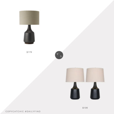 Daily Find: West Elm Morten Table Lamp vs. Overstock Ceramic Table Lamps set of 2, black table lamp look for less, copycatchic luxe living for less, budget home decor and design, daily finds, home trends, sales, budget travel and room redos