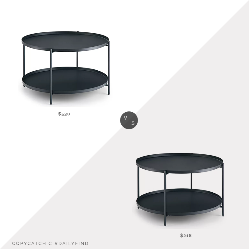 Daily Find: Kohl's Simpli Home Monet Metal Coffee Table vs. Target Wyndenhall Lipton Metal Coffee Table, black metal coffee table look for less, copycatchic luxe living for less, budget home decor and design, daily finds, home trends, sales, budget travel and room redos