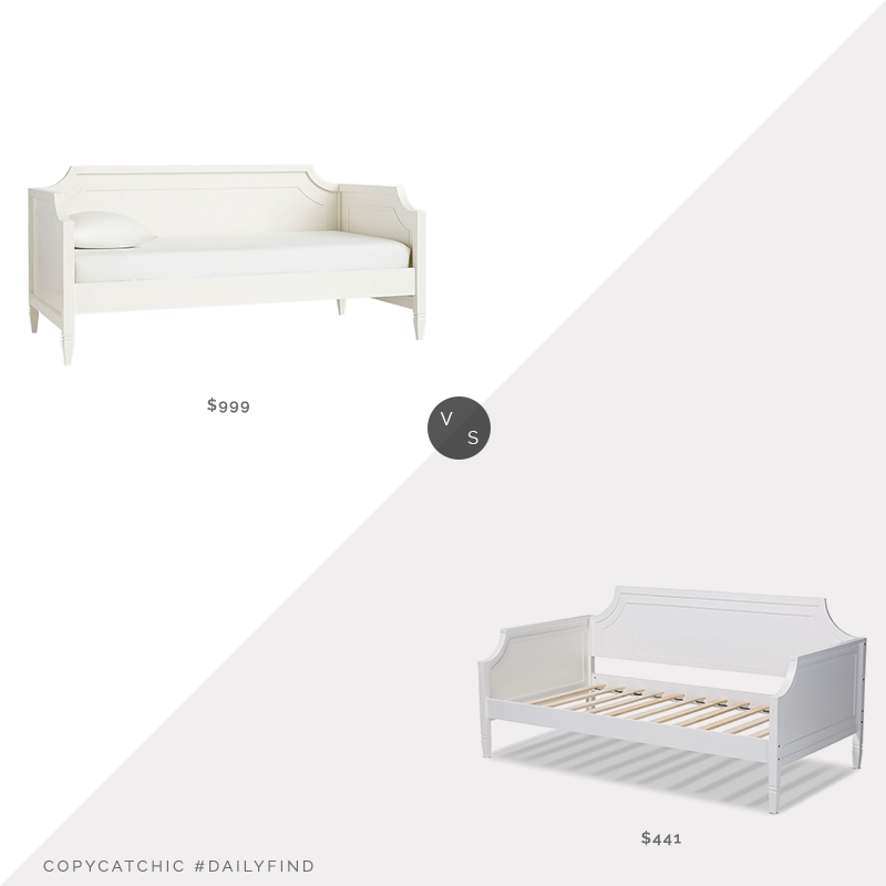 Daily Find: Pottery Barn Ava Regency Daybed vs. The Classy Home Baxton Studio Mariana Daybed, white twin daybed look for less, copycatchic luxe living for less, budget home decor and design, daily finds, home trends, sales, budget travel and room redos