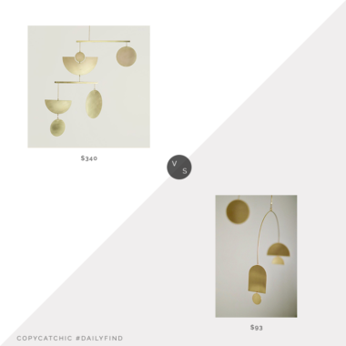 Daily Find: West Elm Circle and Line No. 17 Mobile vs. Etsy Catherine's Studio Rook Kinetic Mobile, brass mobile look for less, copycatchic luxe living for less, budget home decor and design, daily finds, home trends, sales, budget travel and room redos