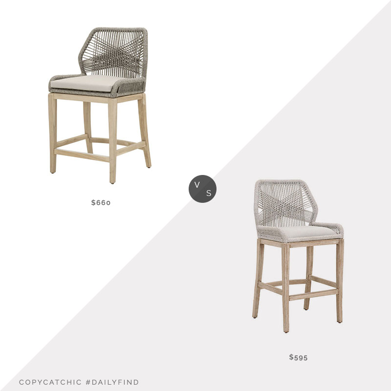Daily Find: Wayfair Loom Counter Stool vs. One Kings Lane Easton Counter Stool, woven back counter stool look for less, copycatchic luxe living for less, budget home decor and design, daily finds, home trends, sales, budget travel and room redos