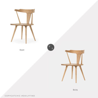 Daily Find: Amber Interiors Bowie Dining Chair vs. France & Son Sherwood Dining Chair, oak dining chair look for less, copycatchic luxe living for less, budget home decor and design, daily finds, home trends, sales, budget travel and room redos