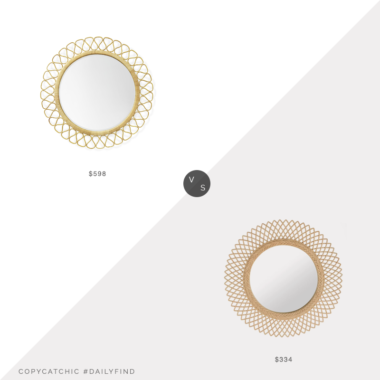 Daily Find: Serena and Lily Topeka Mirror vs. Wayfair Rosecliff Heights Sunburst Mirror, rattan mirror look for less, copycatchic luxe living for less, budget home decor and design, daily finds, home trends, sales, budget travel and room redos