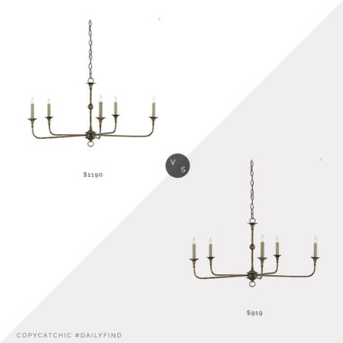 Daily Find: Burke Decor Small Nottaway Chandelier vs. Lighting Merchant Small Nottaway Chandelier, currey and company chandelier look for less, copycatchic luxe living for less, budget home decor and design, daily finds, home trends, sales, budget travel and room redos