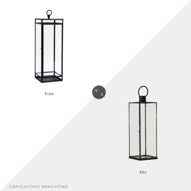 Daily Find: Pottery Barn Maxwell Lantern vs. Wayfair Outdoor Lantern, black outdoor lantern look for less, copycatchic luxe living for less, budget home decor and design, daily finds, home trends, sales, budget travel and room redos